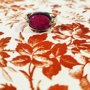 Jewelry - 💎💜Natural purple crystal stone ring